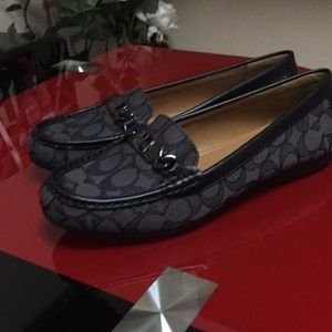 Coach logo loafers, new
